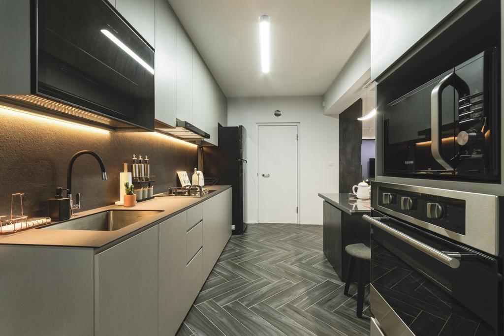 Contemporary, HDB, Kitchen, Bukit Batok West Avenue 5, Interior Designer, Chapter 3