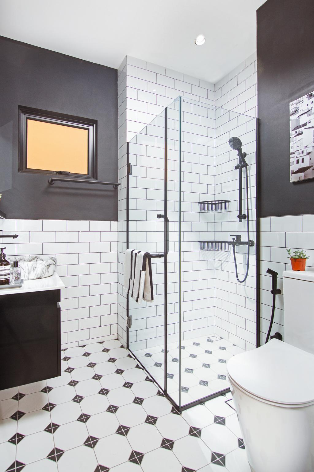 Eclectic, Condo, Bathroom, Dover Parkview, Interior Designer, IDesignerLab, Contemporary