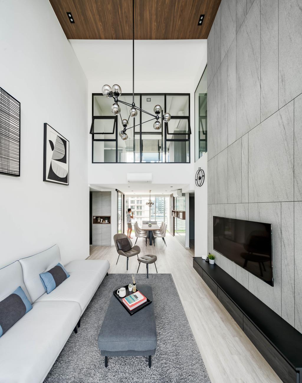 Minimalist, Condo, Living Room, Strata, Interior Designer, Editor Interior, Contemporary