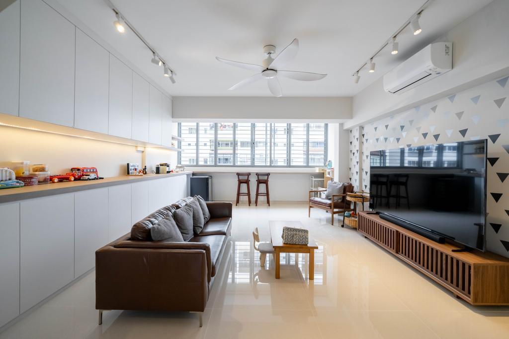 Scandinavian, HDB, Living Room, Yishun Street 61, Interior Designer, Design 4 Space