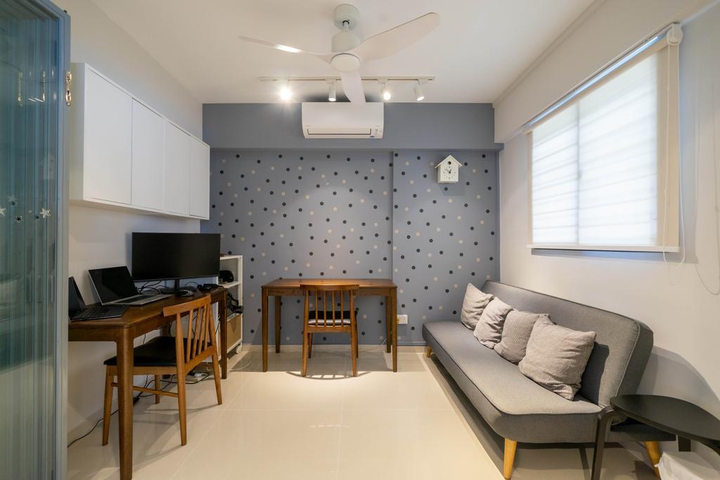 Scandinavian, HDB, Study, Yishun Street 61, Interior Designer, Design 4 Space