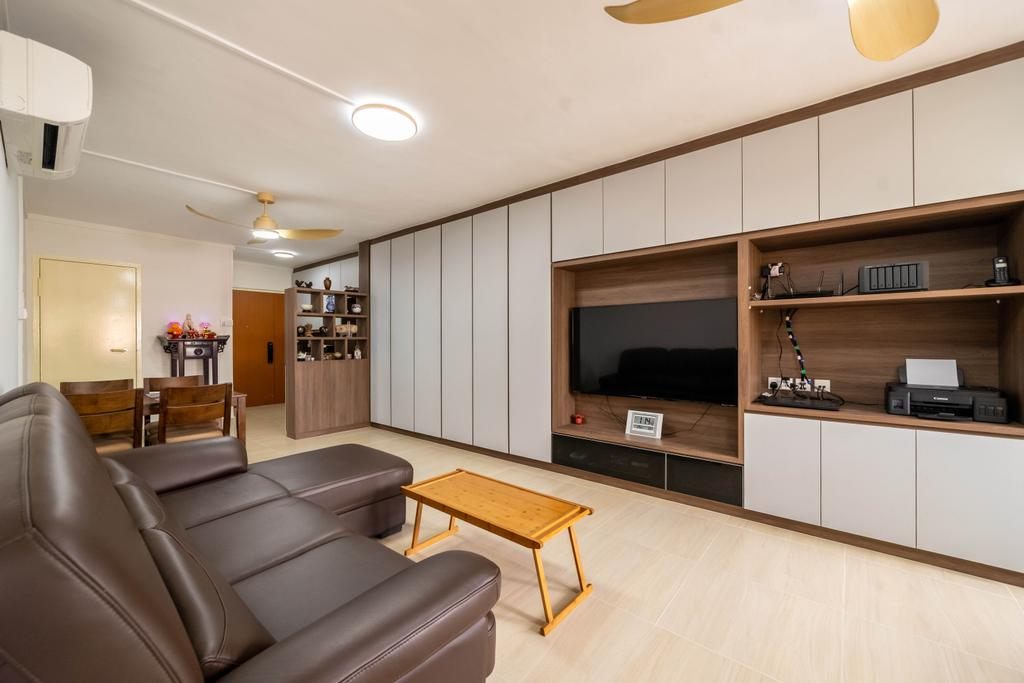 Contemporary, HDB, Living Room, Bedok Reservoir View, Interior Designer, Dots 'N' Tots
