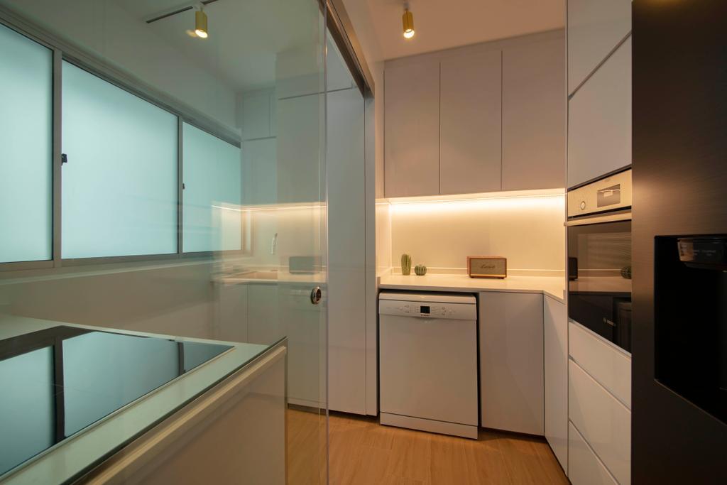Scandinavian, HDB, Kitchen, Anchorvale Lane, Interior Designer, ECasa Studio