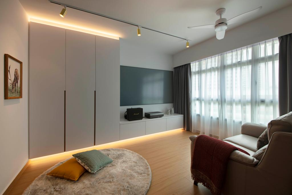 Scandinavian, HDB, Living Room, Anchorvale Lane, Interior Designer, ECasa Studio