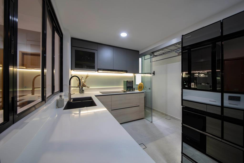 Contemporary, Condo, Living Room, Atrium Residences, Interior Designer, ECasa Studio