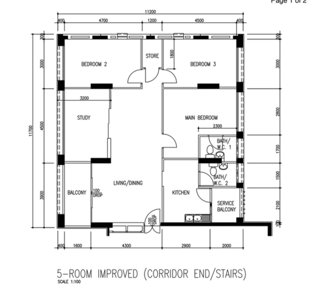 Scandinavian, HDB, Pasir Ris Street 71, Interior Designer, Lemonfridge Studio, 5 Room Hdb Floorplan, Before Floorplan