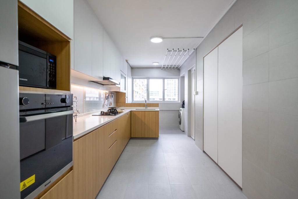 Contemporary, HDB, Kitchen, Bishan Street 13, Interior Designer, Design 4 Space