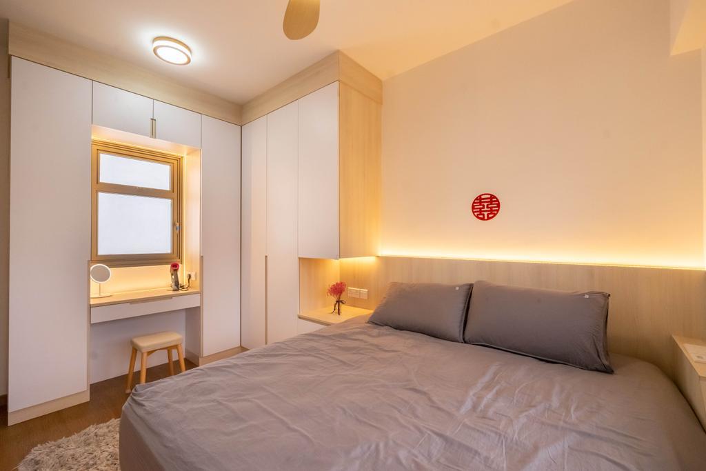 Contemporary, HDB, Bedroom, Yishun Street 44, Interior Designer, Dots 'N' Tots