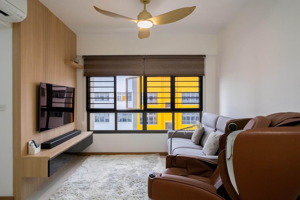 Contemporary, HDB, Living Room, Yishun Street 44, Interior Designer, Dots 'N' Tots