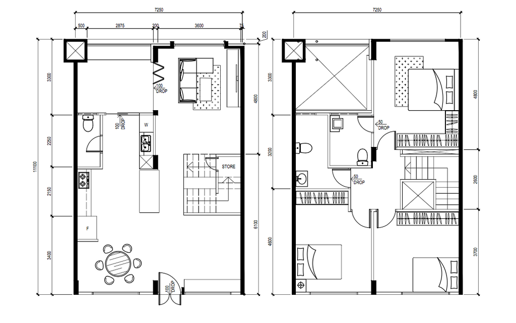 Contemporary, HDB, Pasir Ris Street 11, Interior Designer, Todz'Terior, Executive Maisonette Floorplan, Final Floorplan