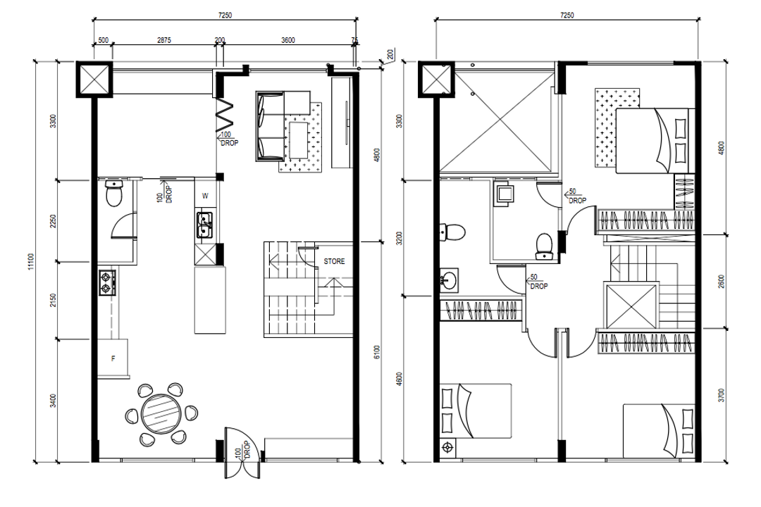 Pasir Ris Street 11, Todz'Terior, Contemporary, HDB, Executive Maisonette Floorplan, Final Floorplan