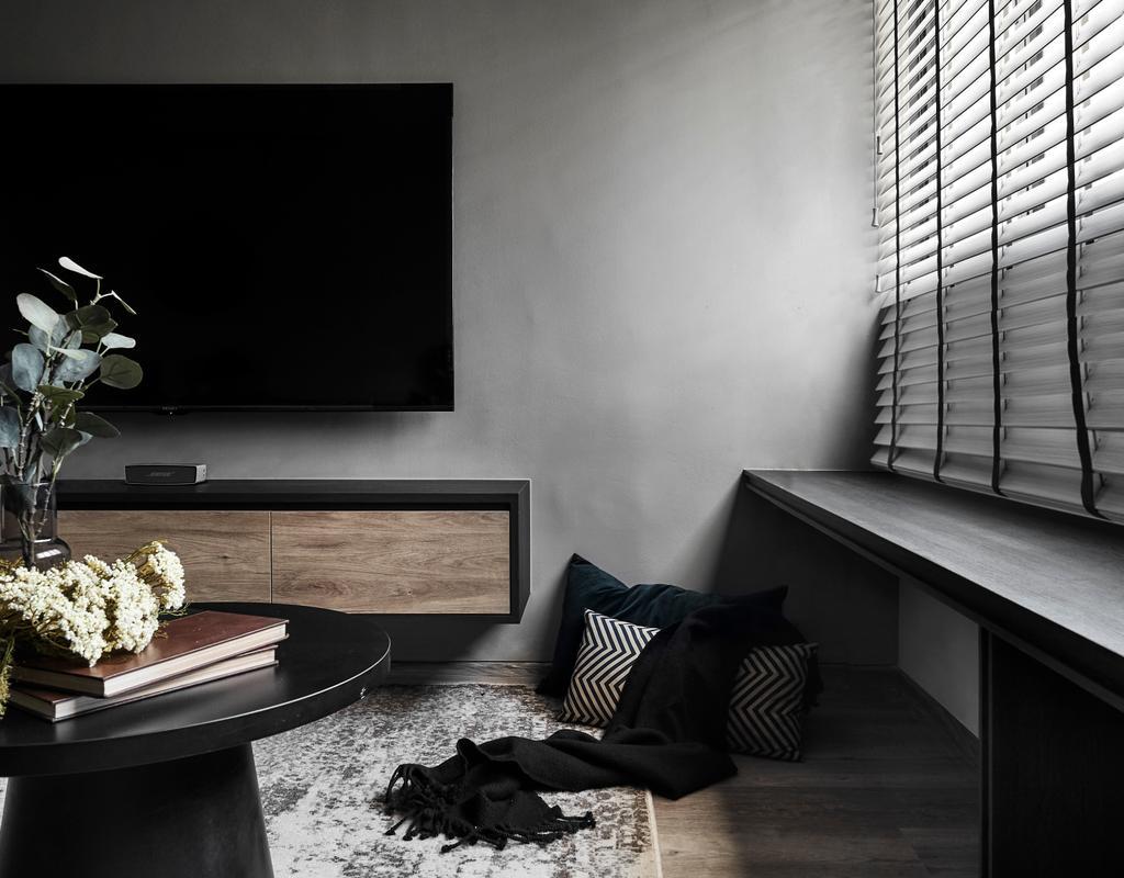 Contemporary, HDB, Living Room, Ang Mo Kio, Interior Designer, Happe Design Atelier