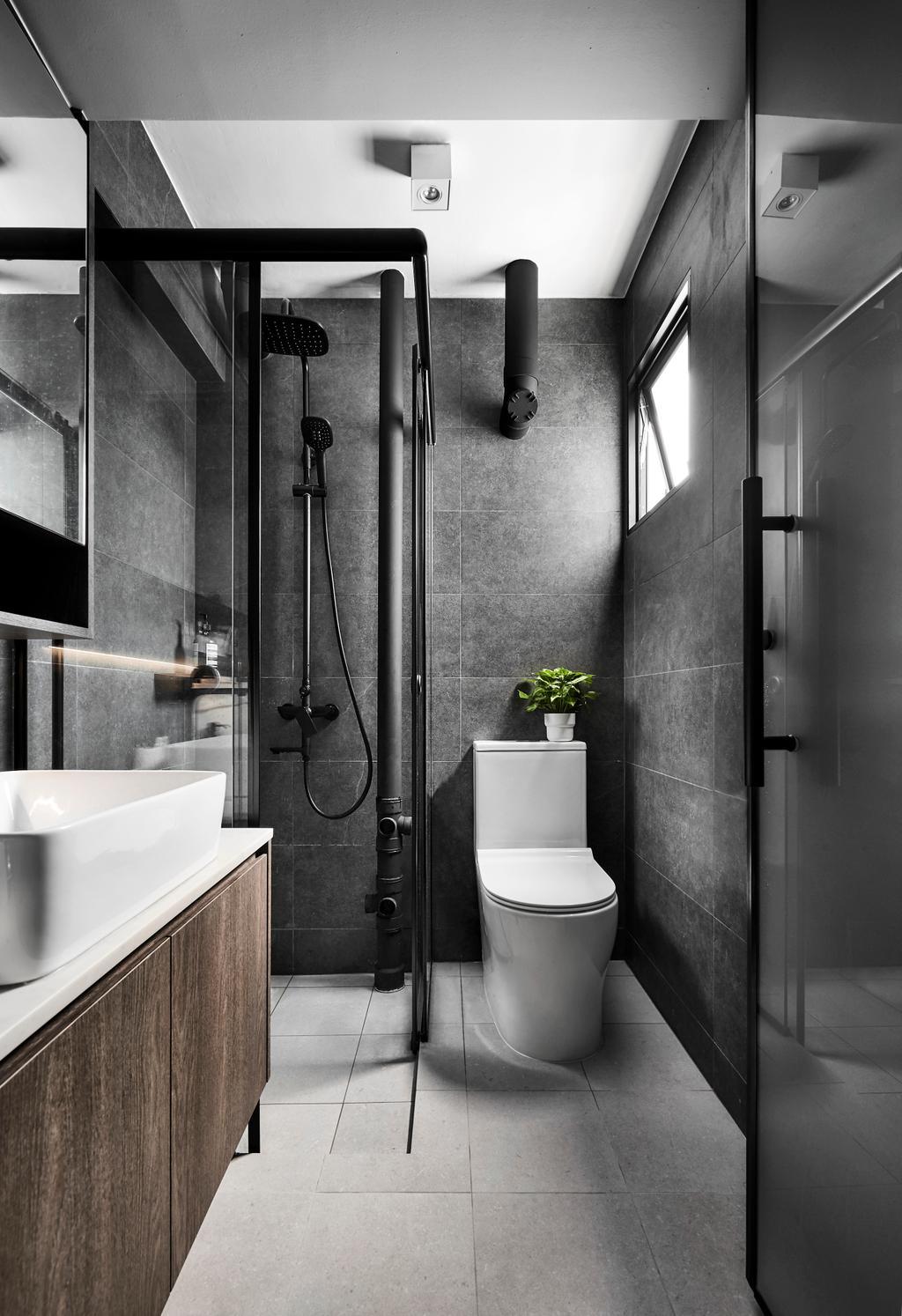 Contemporary, HDB, Bathroom, Ang Mo Kio, Interior Designer, Happe Design Atelier