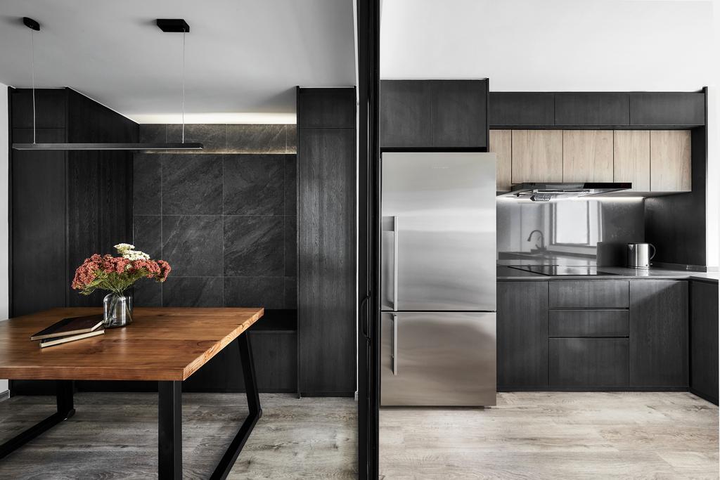 Contemporary, HDB, Kitchen, Ang Mo Kio, Interior Designer, Happe Design Atelier