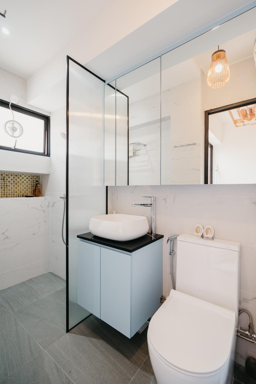 Contemporary, HDB, Bathroom, Tampines Street 82, Interior Designer, OTTOTTO