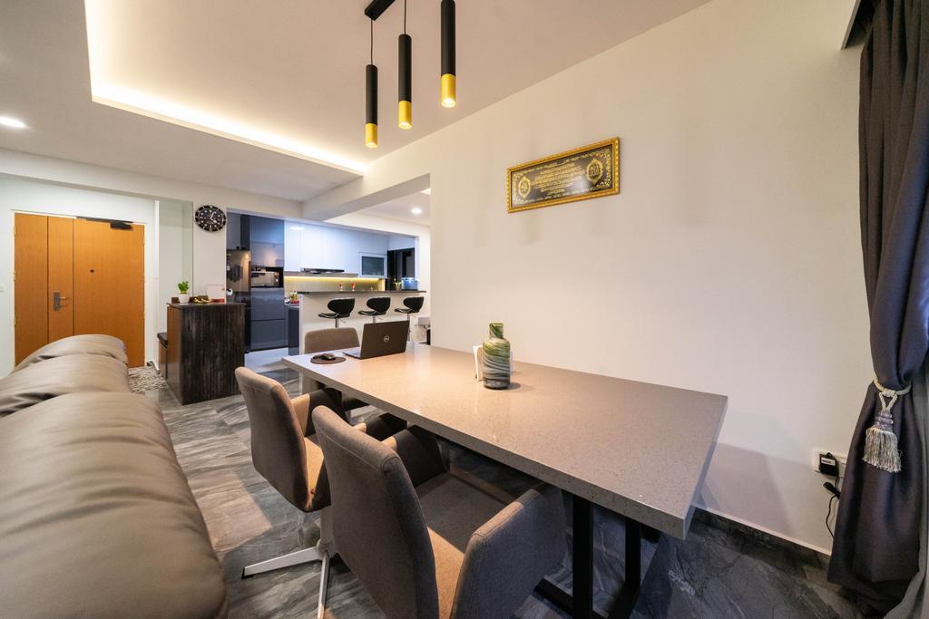 Contemporary, HDB, Dining Room, Buangkok Edgeview, Interior Designer, Design 4 Space