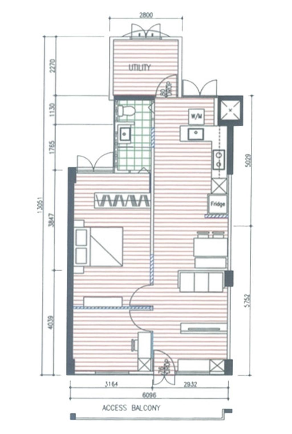 Contemporary, HDB, Telok Blangah Crescent, Interior Designer, The Wooden Platform, 3 Room Hdb Floorplan, Final Floorplan
