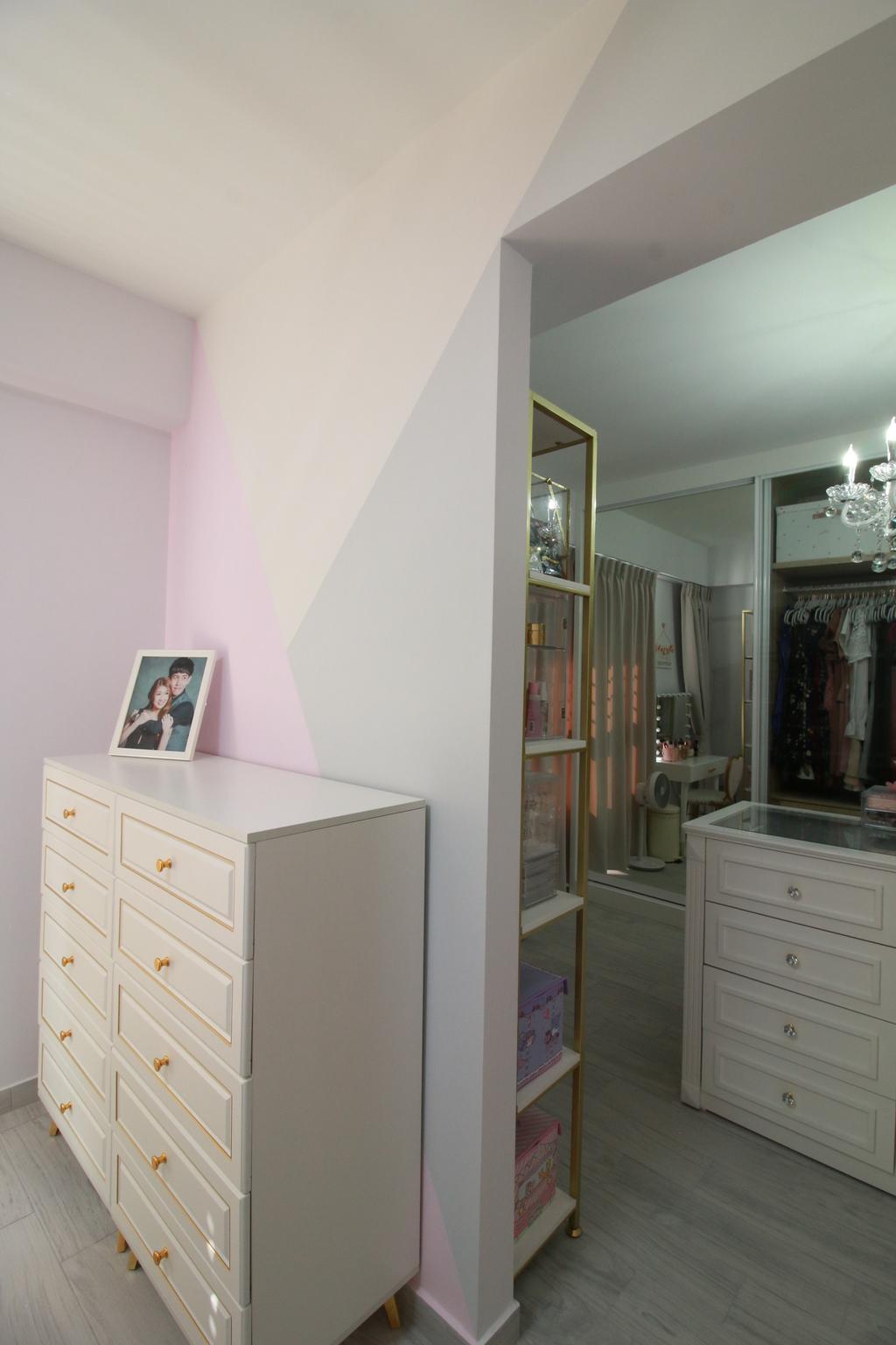 Scandinavian, HDB, Bedroom, Northshore Drive, Interior Designer, Our Interior