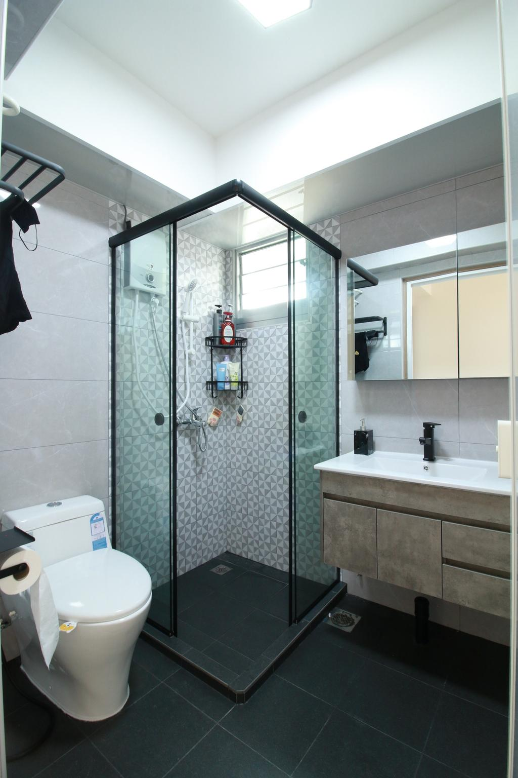 Scandinavian, HDB, Bathroom, Northshore Drive, Interior Designer, Our Interior