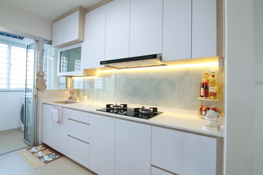 Scandinavian, HDB, Kitchen, Northshore Drive, Interior Designer, Our Interior
