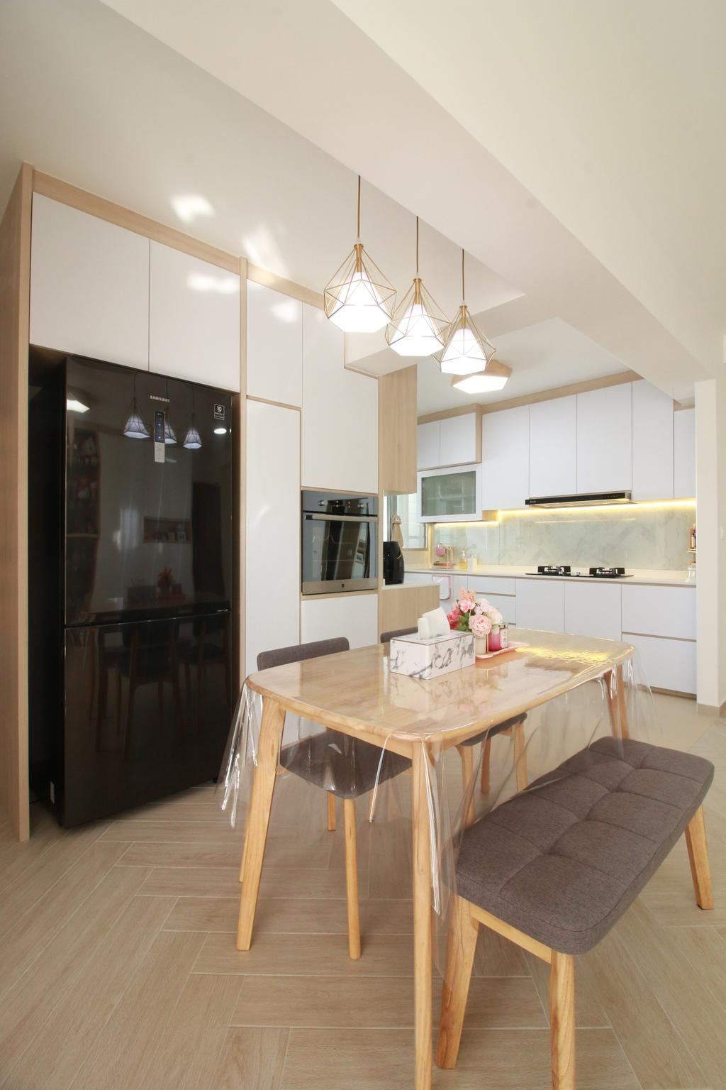 Scandinavian, HDB, Dining Room, Northshore Drive, Interior Designer, Our Interior