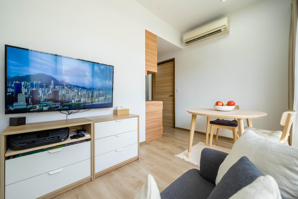 Minimalist, Condo, Living Room, Vibes @ East Coast, Interior Designer, Design 4 Space