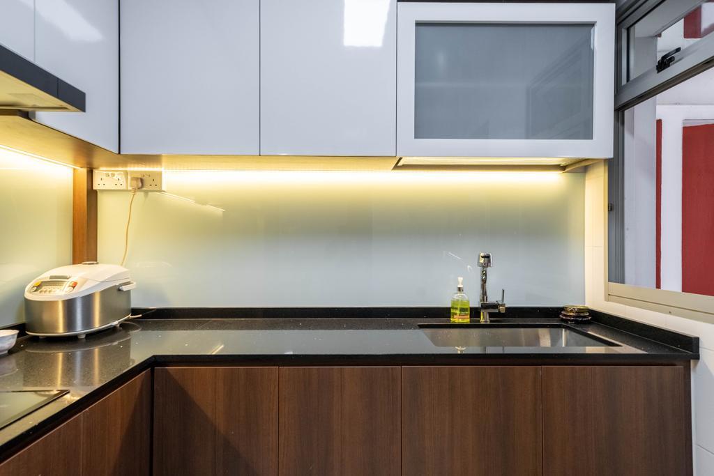 Contemporary, HDB, Kitchen, Compassvale Link, Interior Designer, Dots 'N' Tots