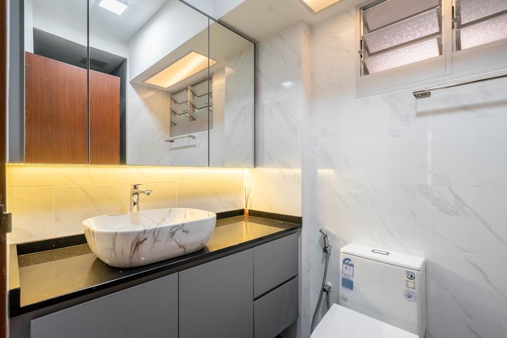 Contemporary, HDB, Bathroom, Compassvale Link, Interior Designer, Dots 'N' Tots