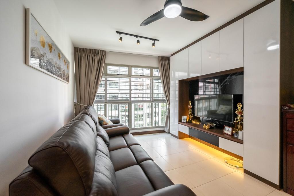 Contemporary, HDB, Living Room, Compassvale Link, Interior Designer, Dots 'N' Tots