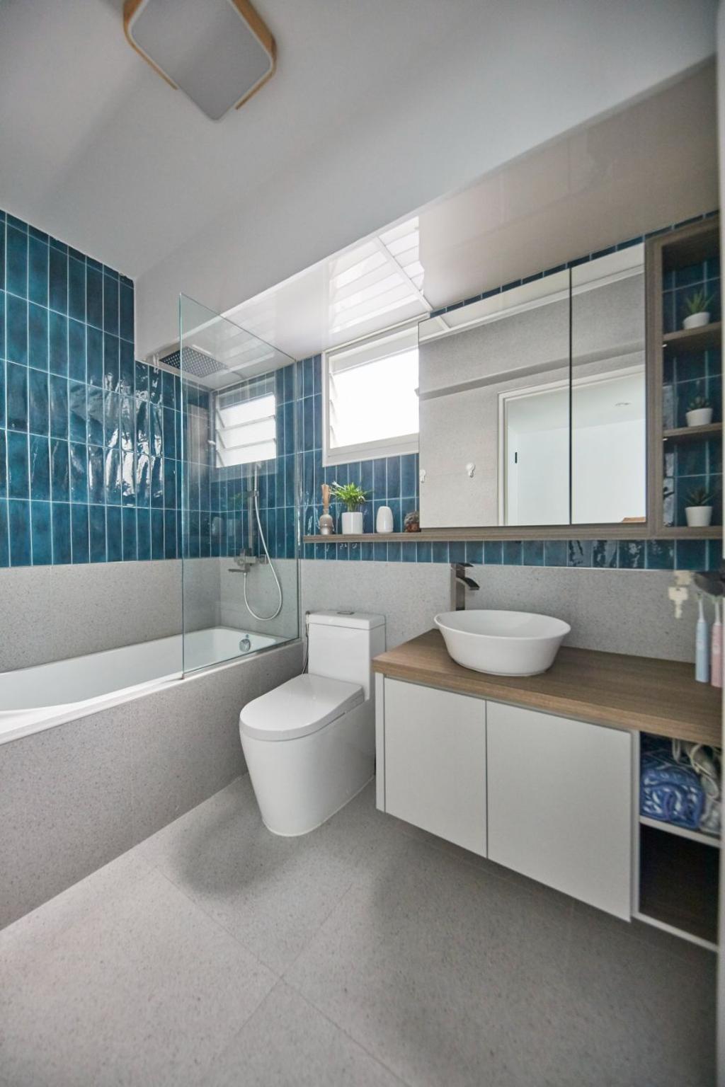 Contemporary, HDB, Bathroom, Yishun Avenue 9, Interior Designer, Carpenters 匠, Scandinavian, Bathtub
