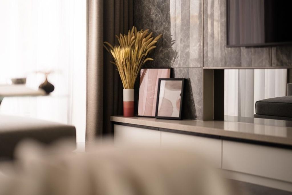 Contemporary, Condo, Living Room, Wembley Residences, Interior Designer, Carpenters 匠
