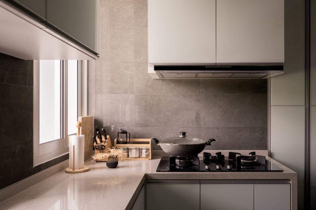 Contemporary, Condo, Kitchen, Wembley Residences, Interior Designer, Carpenters 匠