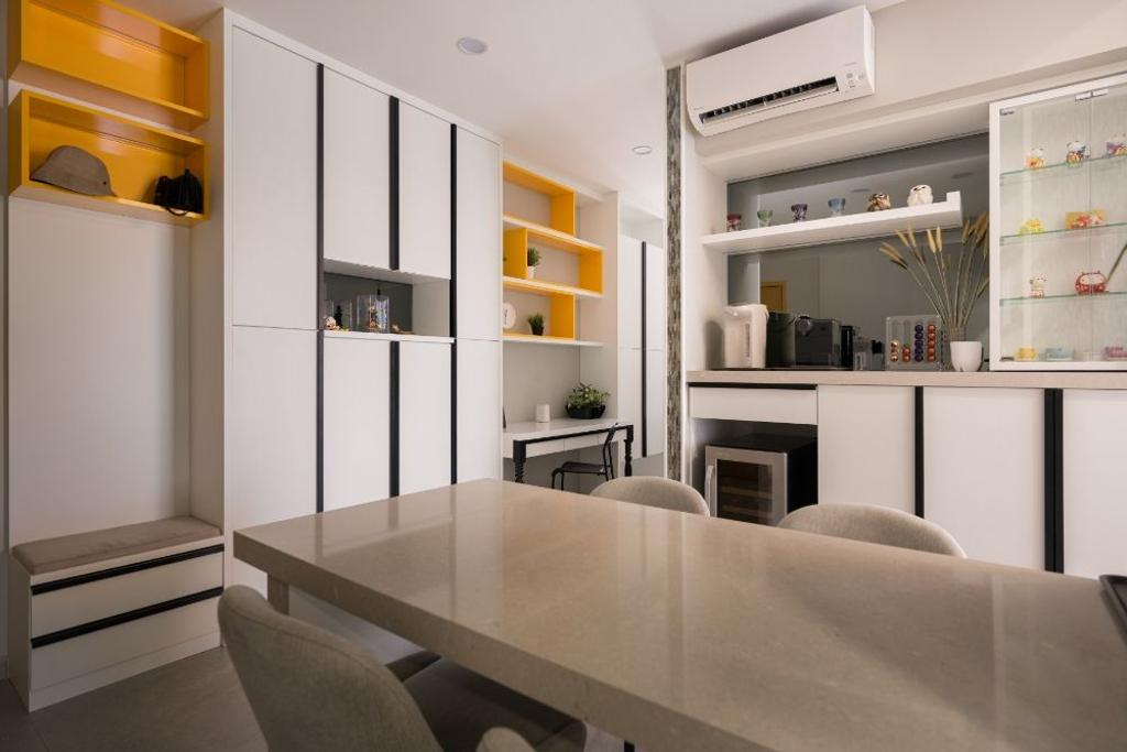 Contemporary, Condo, Dining Room, Wembley Residences, Interior Designer, Carpenters 匠