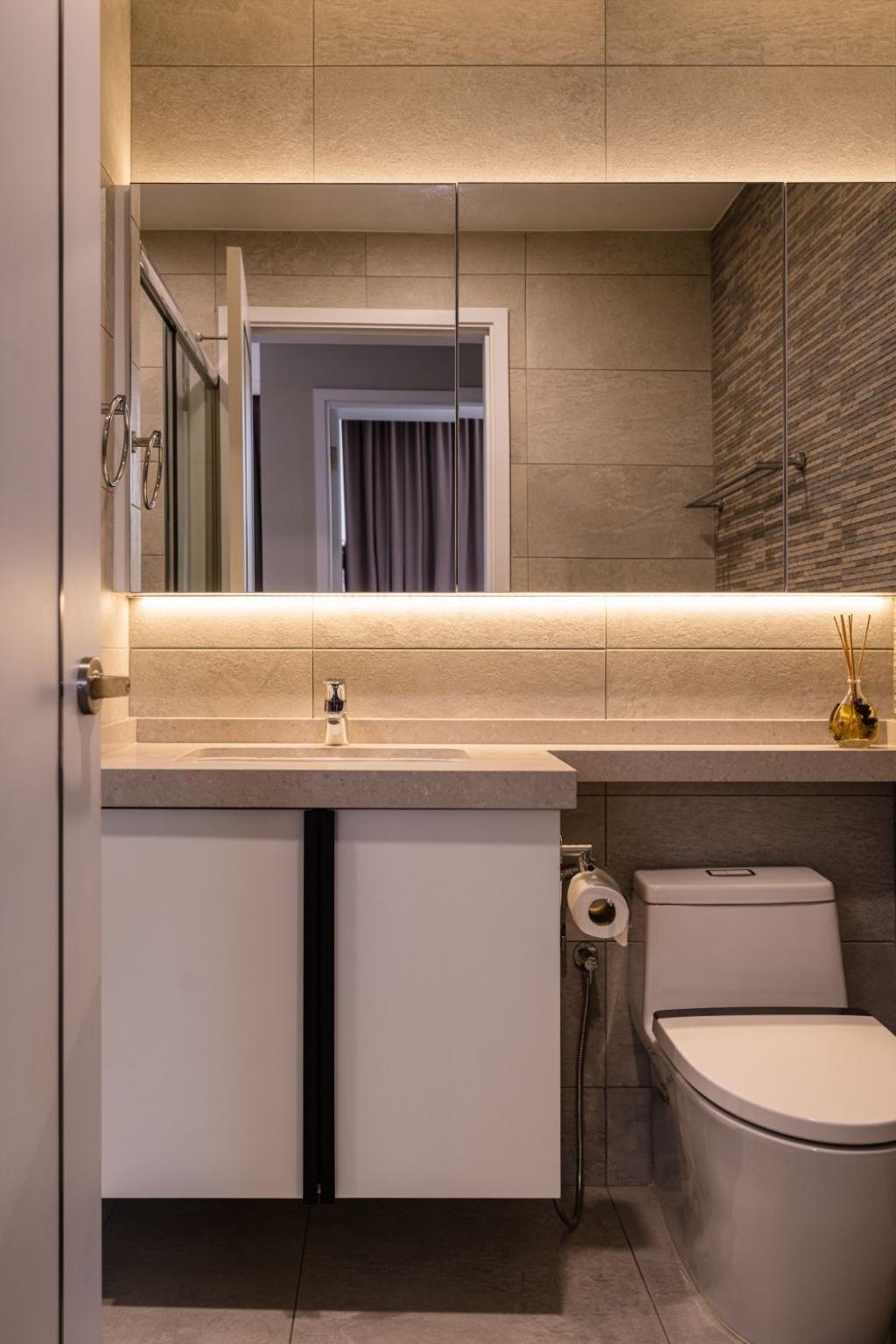 Contemporary, Condo, Bathroom, Wembley Residences, Interior Designer, Carpenters 匠