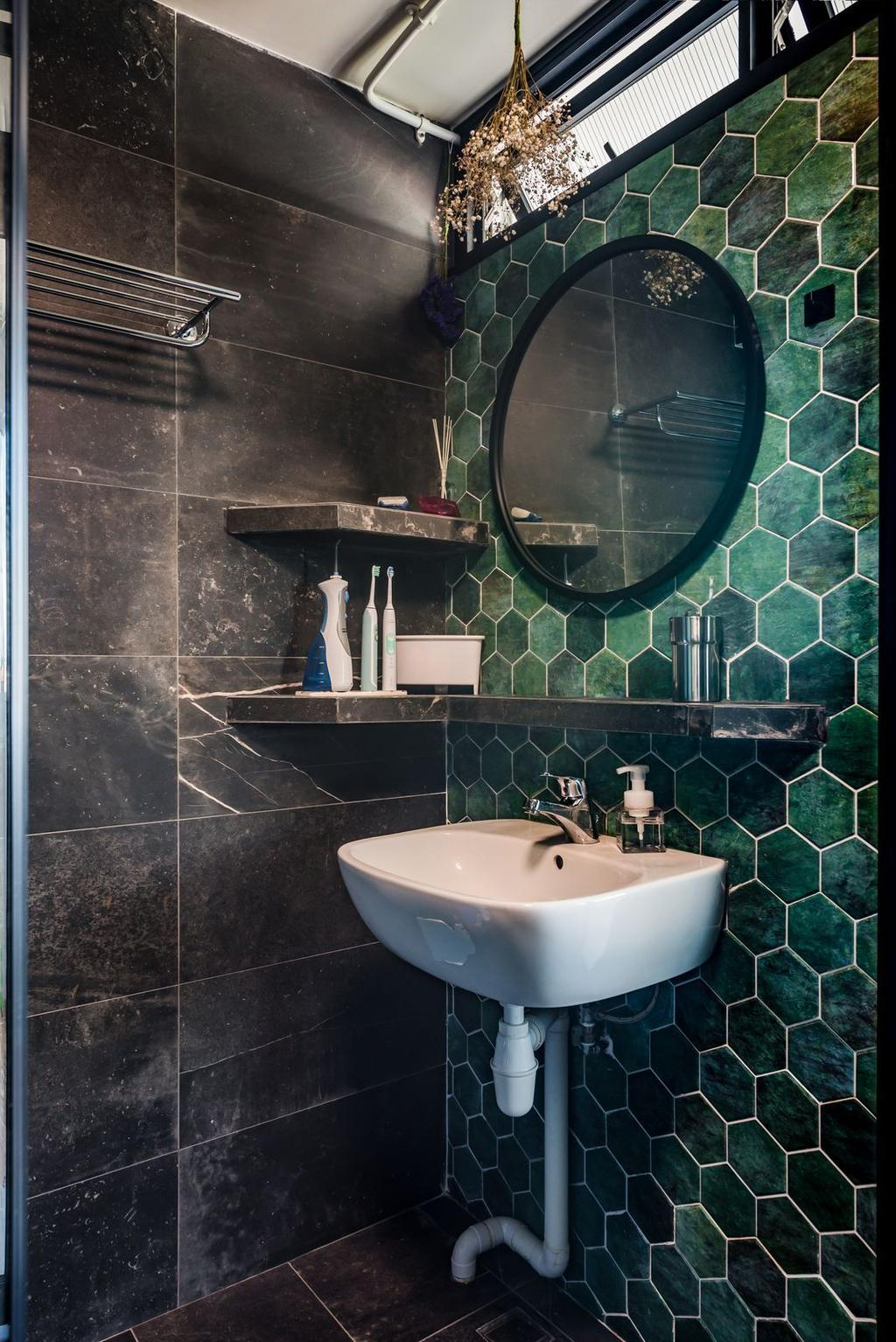 Contemporary, HDB, Bathroom, Queen's Road, Interior Designer, Archive Design, Eclectic