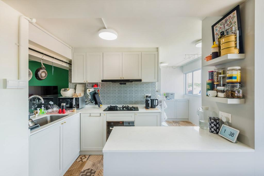 Contemporary, HDB, Kitchen, Queen's Road, Interior Designer, Archive Design, Eclectic