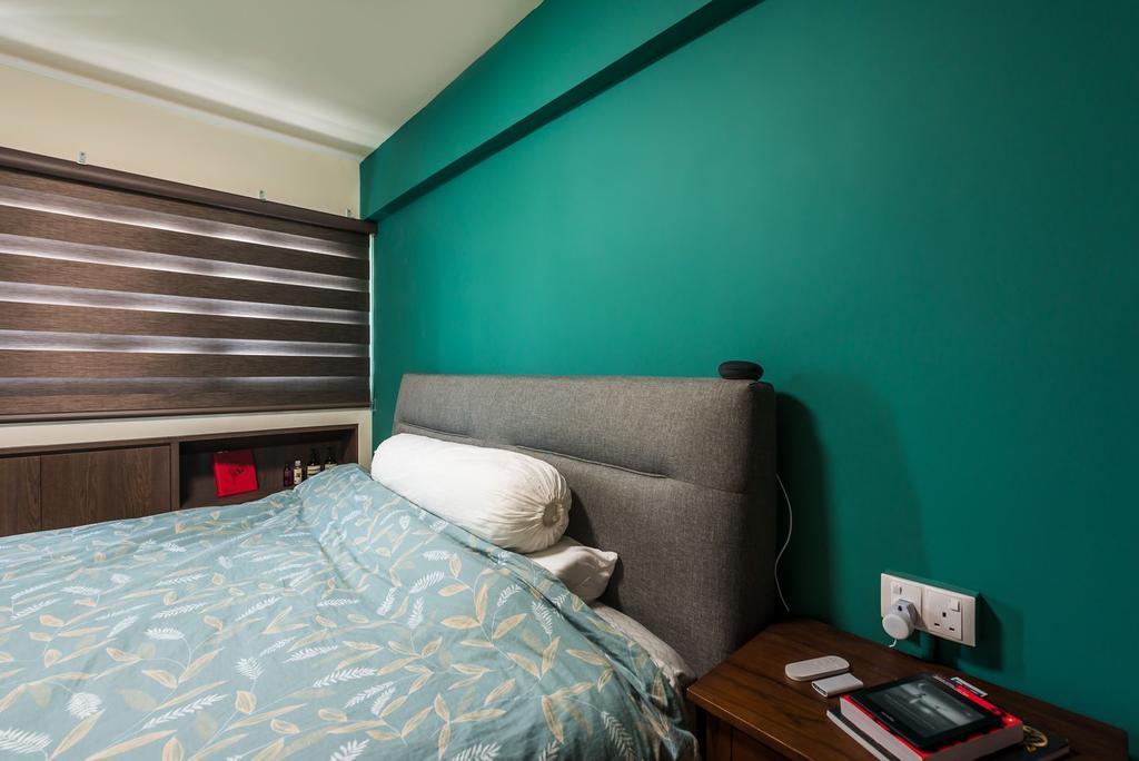 Contemporary, HDB, Bedroom, Queen's Road, Interior Designer, Archive Design, Eclectic