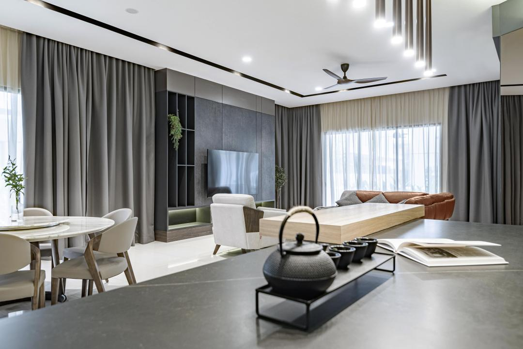 Tropicana Aman, Kota Kemuning, The Grid Studio, Modern, Contemporary, Living Room, Landed