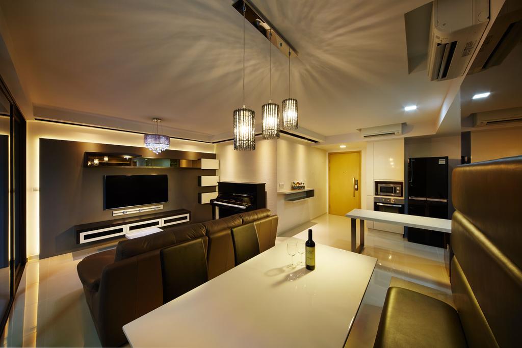 Contemporary, Condo, Living Room, Twin Waterfalls, Interior Designer, ICAY