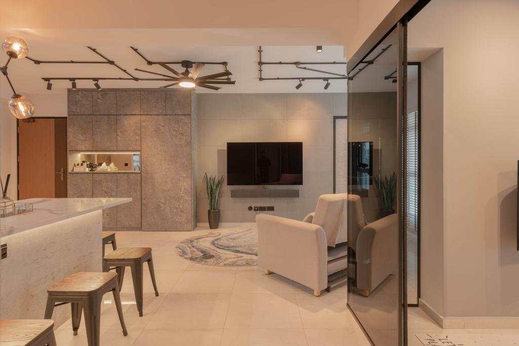 Contemporary, HDB, Living Room, Northshore Drive, Interior Designer, Tab Gallery