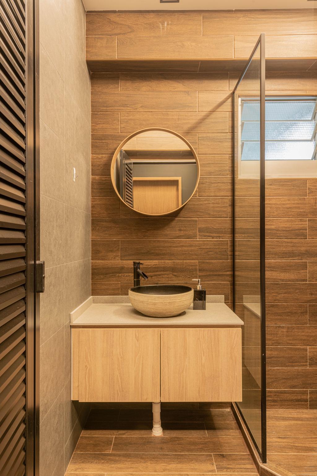 Contemporary, HDB, Bathroom, Tampines Avenue 8, Interior Designer, Tab Gallery