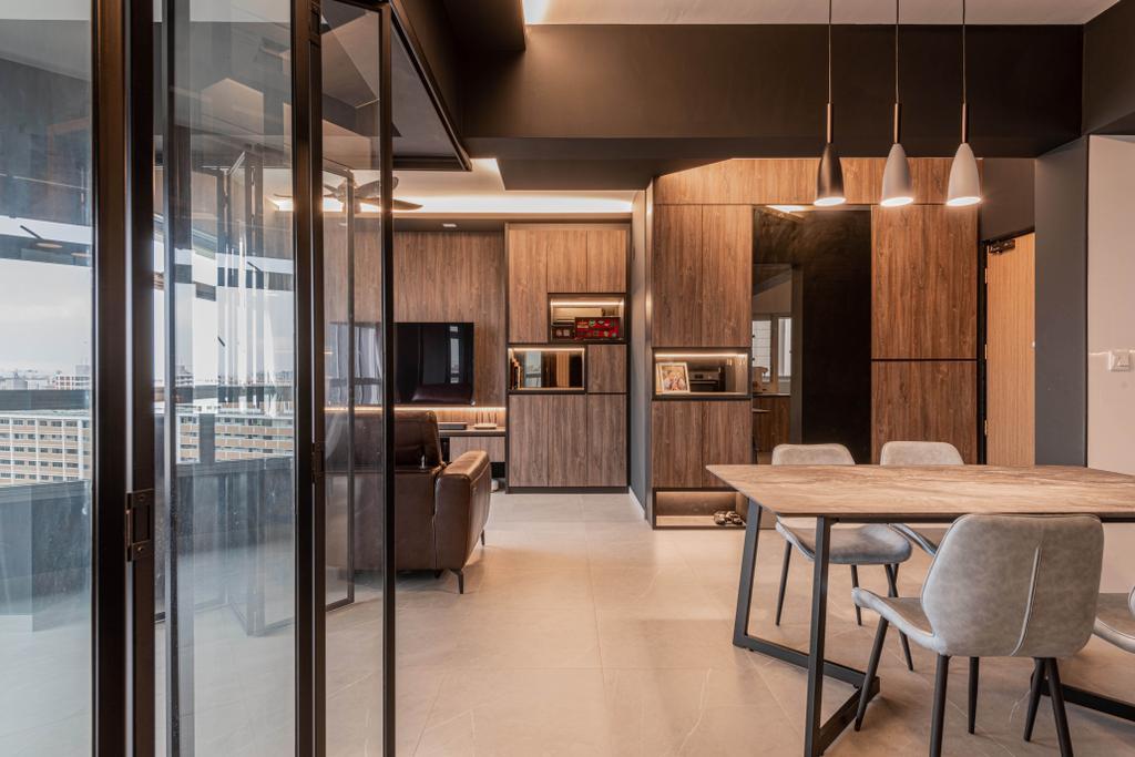 Contemporary, HDB, Living Room, Tampines Avenue 8, Interior Designer, Tab Gallery