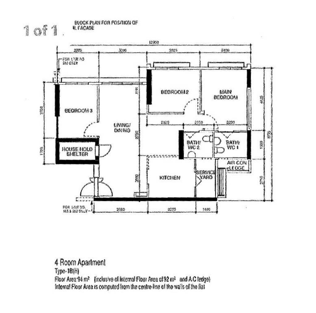 Contemporary, HDB, Living Room, Northshore Drive, Interior Designer, Tab Gallery, 4 Room Hdb Floorplan, Type 1 B H, Original Floorplan