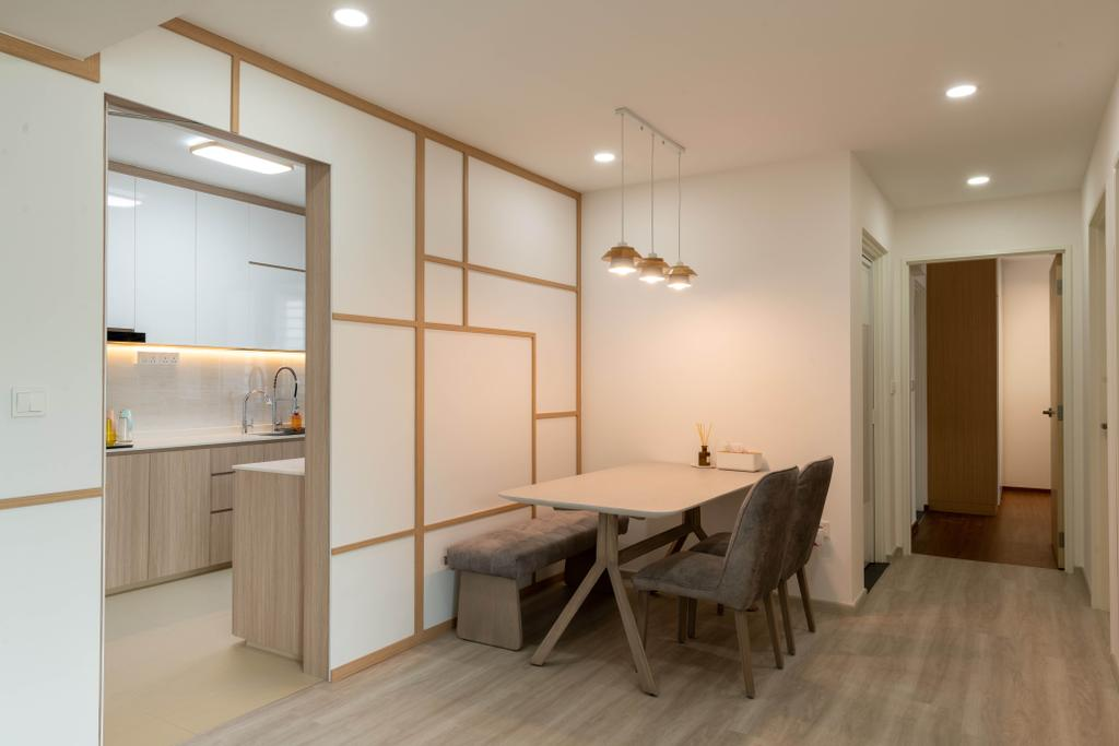 Scandinavian, HDB, Dining Room, Hougang Street 32, Interior Designer, Glamour Concept