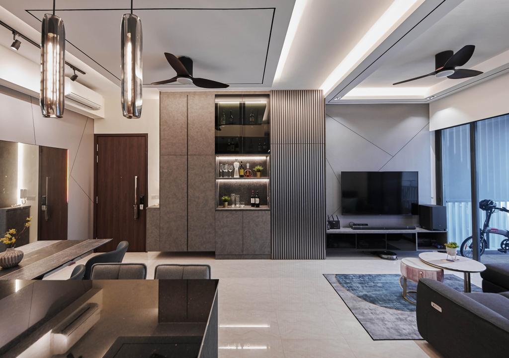 Contemporary, Condo, Living Room, Signature At Yishun, Interior Designer, MET Interior