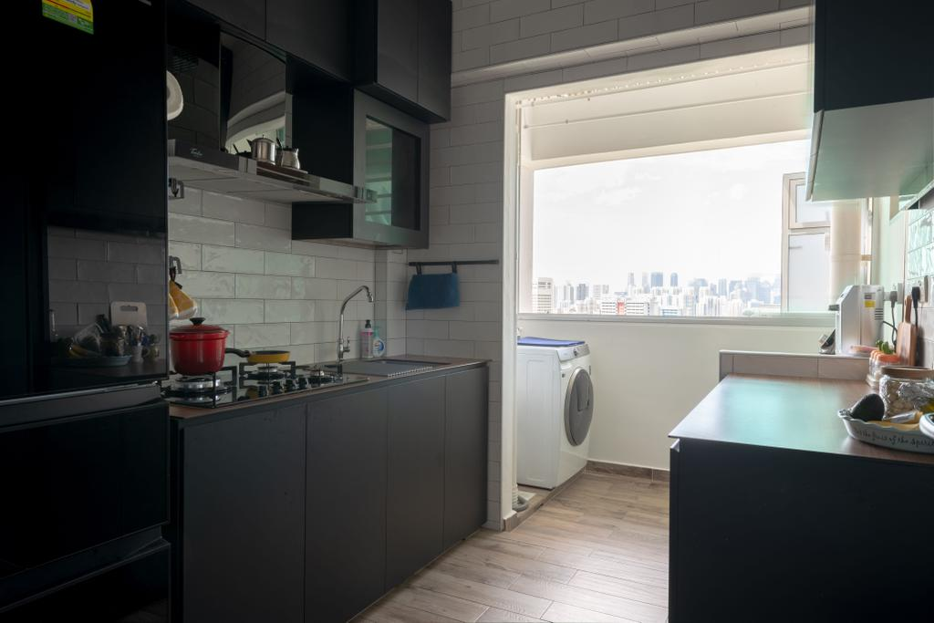Eclectic, HDB, Kitchen, Depot Road, Interior Designer, Vika Design Lab