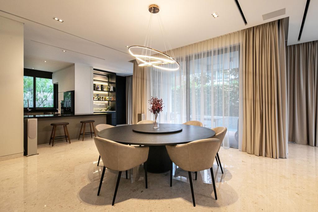 Contemporary, Landed, Dining Room, Nim Drive, Interior Designer, Space Atelier