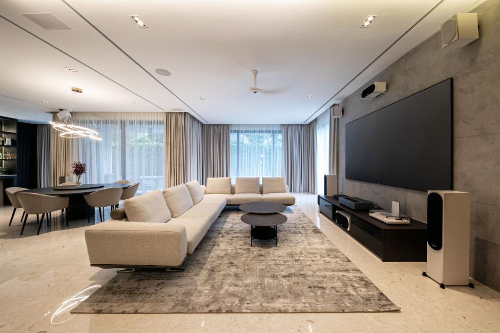 Contemporary, Landed, Living Room, Nim Drive, Interior Designer, Space Atelier