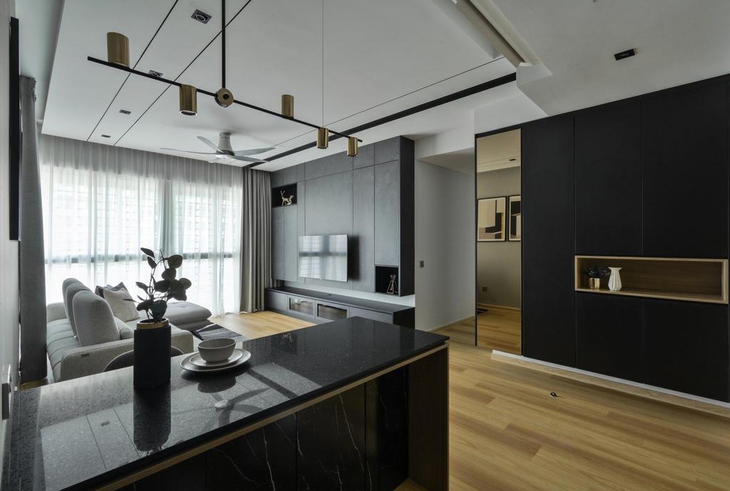 Contemporary, Condo, Living Room, Cantara Residence, Selangor, Interior Designer, IQI Concept Interior Design & Renovation
