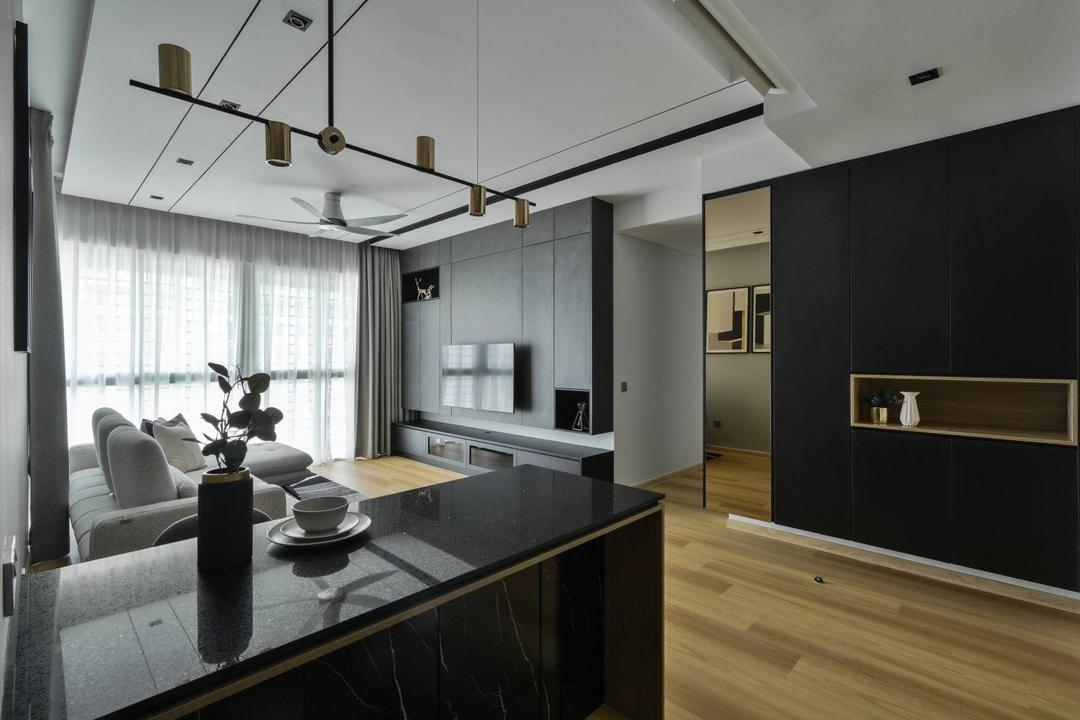 Cantara Residence, Selangor, IQI Concept Interior Design & Renovation, Contemporary, Living Room, Condo